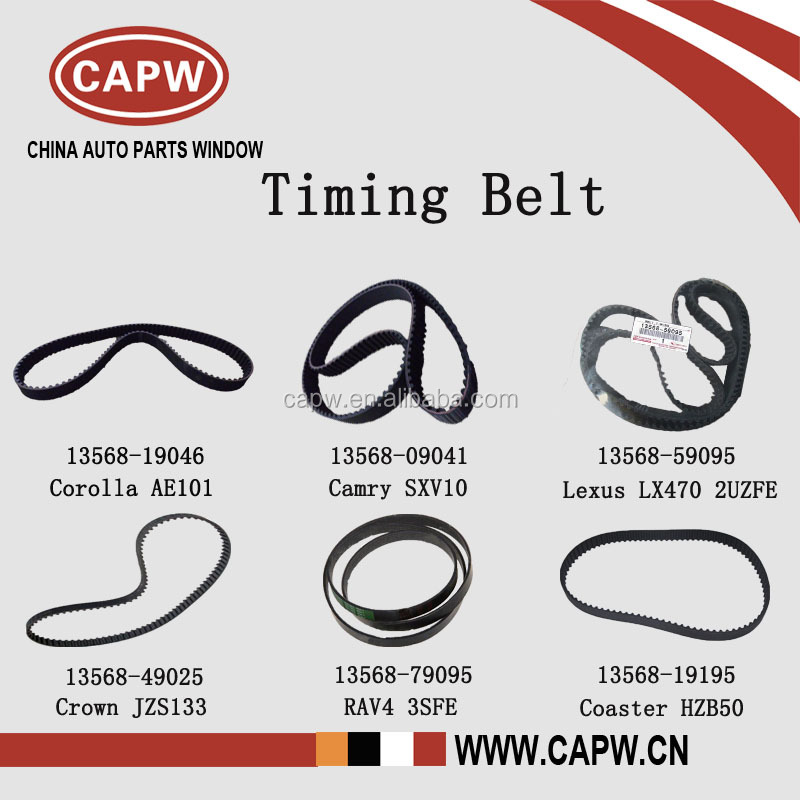 Timing Belt for Toyota Camry/Corolla/Coaster/Crown/Lexus/Rav4 13568-09041 SXV10/AE101/HZB50/JZS133/UZJ100/3SFE