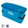 3 compartment leakproof silicone plastic kids lunch box with lock