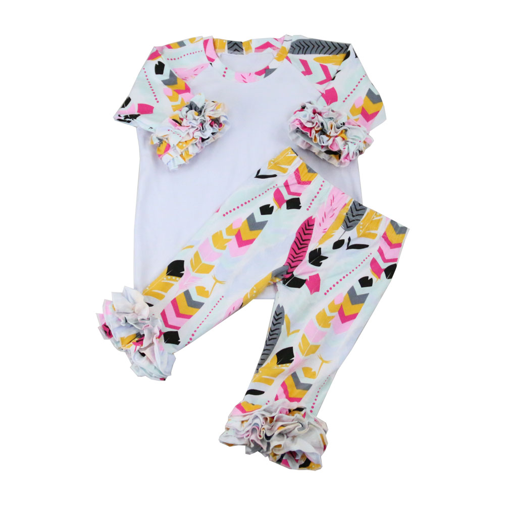 2017 Summer latest style European Clothing,fashion ruffled Baby Clothes Manufacturers USA