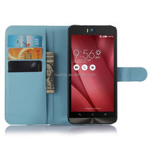 Cheap goods from china Business Design Wallet Standing Lychee Leather for asus zenfone selfie case alibaba china