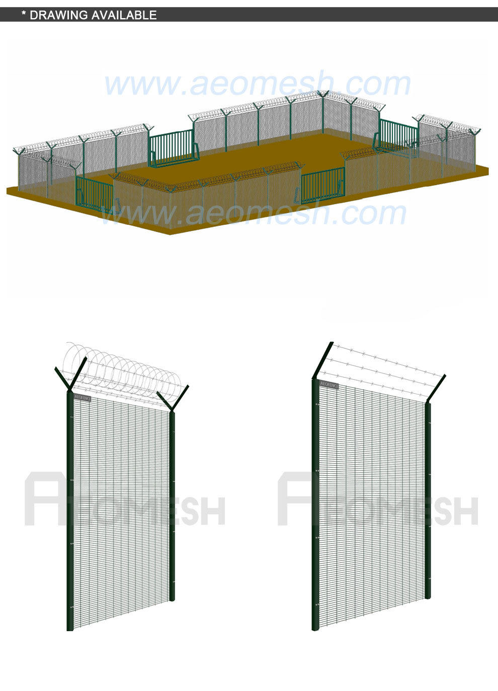 358 Mesh Panel Fencing Pison 358 High Security Fence Panel Factory