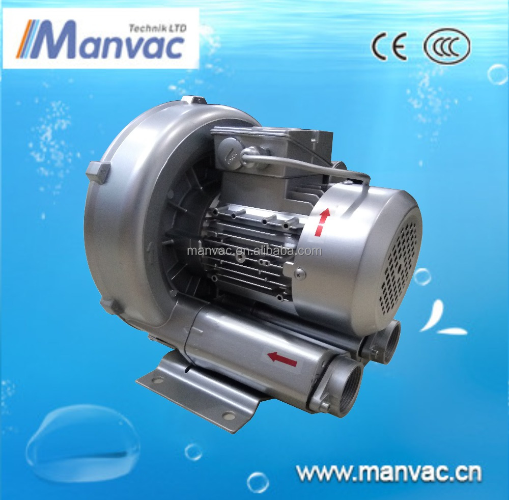 High pressure side channel blower for washing-drying machine