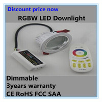 Discount price RGBW 3*4W led downlight in wall recessed led lights 12v gypsum