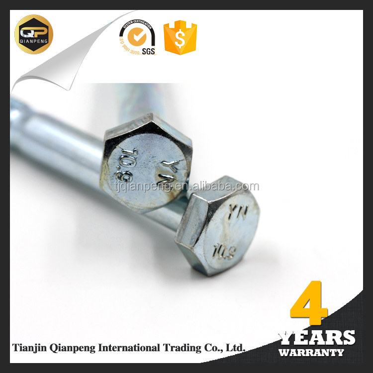 China suppliers high tension left hand screw hex bolts from alibaba china