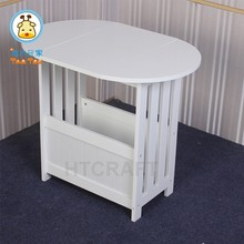 Wooden Flodable Table With Storage White Coffee Table/Magazine Table