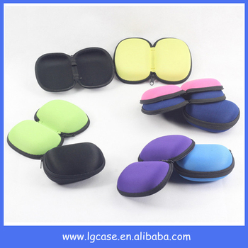 Wholesale colorful folding zipper glasses case with cheap price