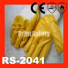 RILIN SAFETY best gloves lining , specialized bicycle glove with CE certificate EN388 EN420