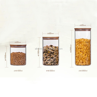 120ml 200ml 60ml 250ml 300ml 320ml 350ml 430ml Airtight Clear Wholesale Cannister Borosilicate Glass Jar With wood lid
