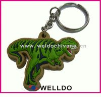 2d custom shaped soft pvc keychain