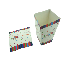 Wholesale custom logo printed packaging paper cup popcorn chicken paper box for fried food