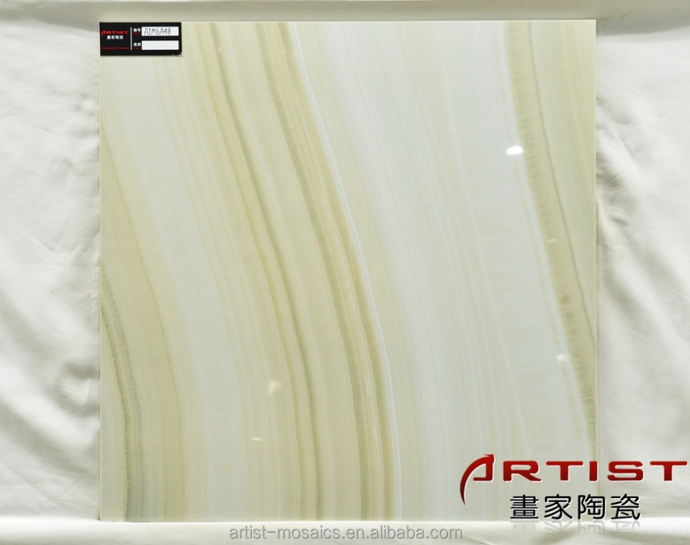Wave Marble Polished Rialto Noce Porcelain Tiles 60x60 with ISO Standard