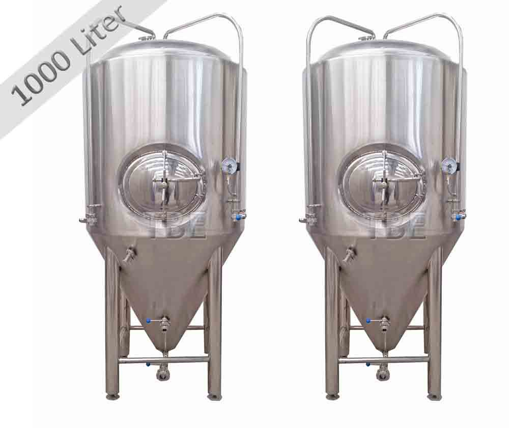 1000L stainless steel draft beer conical fermenter