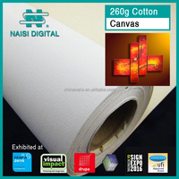 260g inkjet pure cotton matte coated Canvas for eco solvent ink