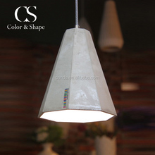 Hotel or home ornament grey cement chandelier vintage ceiling pendant light