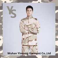 [Wuhan YinSong] 65% Polyester 35% Cotton 3-Color Desert ACU Universal Army Military Jackets and pants