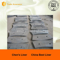 wear liner bolt hole for the outer end liners in Coal Mill
