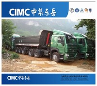 CIMC multi-axle hydraulic truck trailer for sale , semi low loaders
