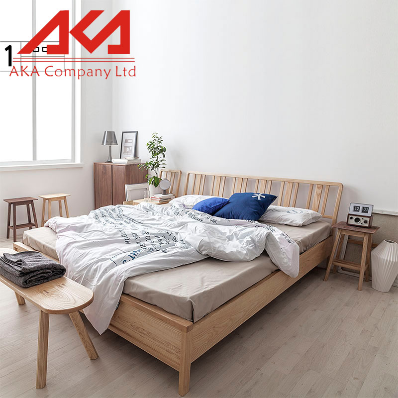 OEM Furniture Factory MDF Wooden Queen Size Modern Bed Designs In Wood