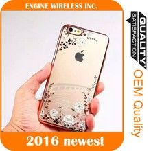 phone case with floating diamond for iphone 6 case silicone,for iphone case dropship