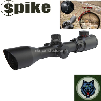 Spike 30mm Tube Scope 3-12X44 Compact Scope with AO Mil-dot, Hunting Riflescope