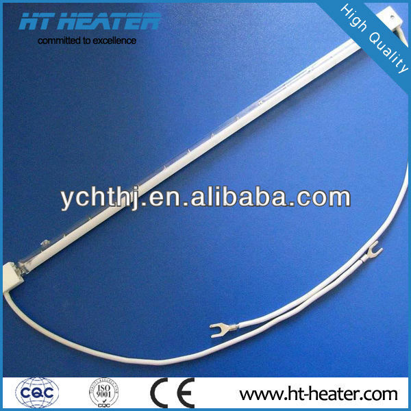 Hongtai 14*600mm ray drying infrared heating milky white quartz heater emitter