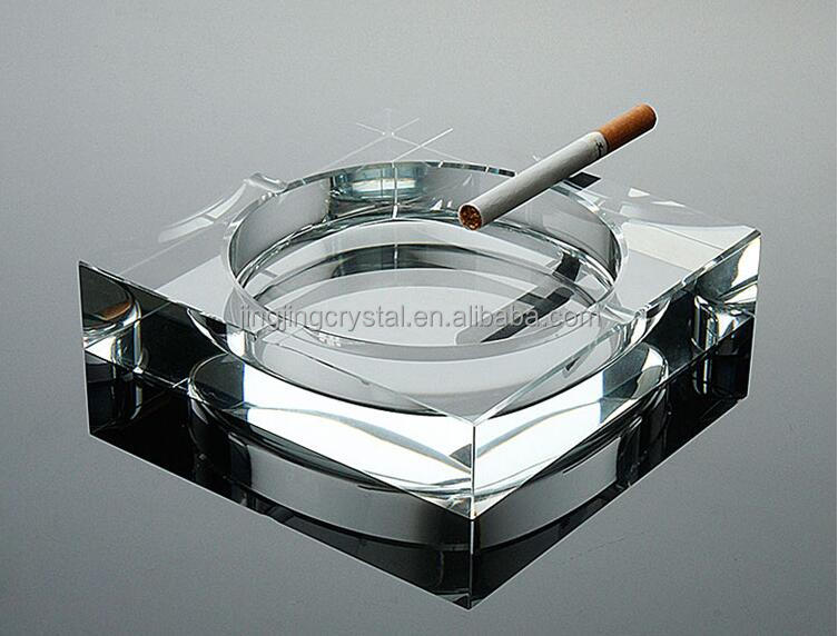 Simple design High quality promotion gift crystal glass cigar ashtray