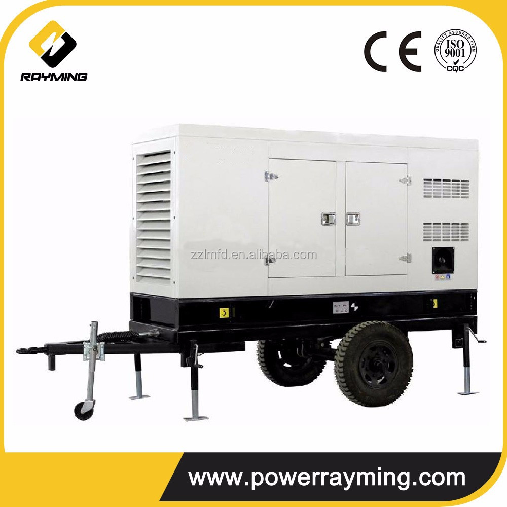 CE, ISO approved super silent trailer diesel generator