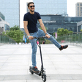 Remote control 2 wheel self balance electric scooter with handlebar and seat