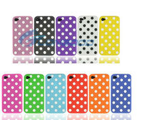 For iPhone 4 Cases Girls' Polka Dot Soft Back Case Cover Skin