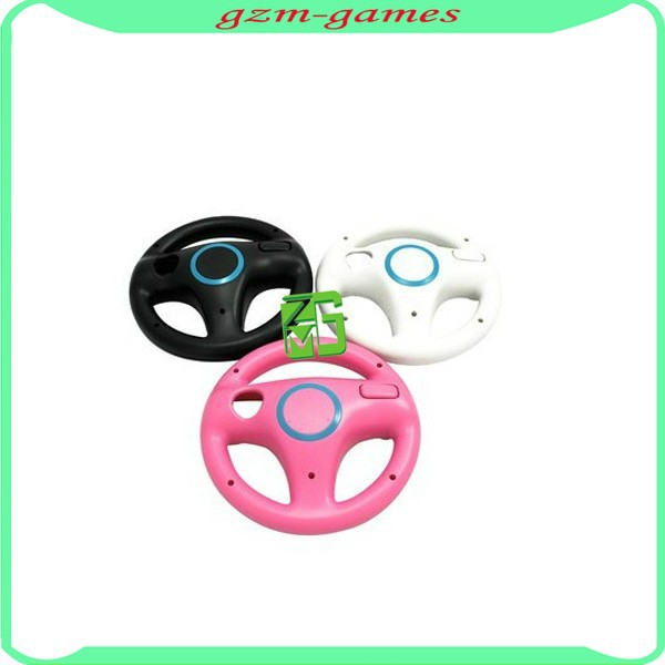 Game Accessories White Racing Steering Wheel for Wii