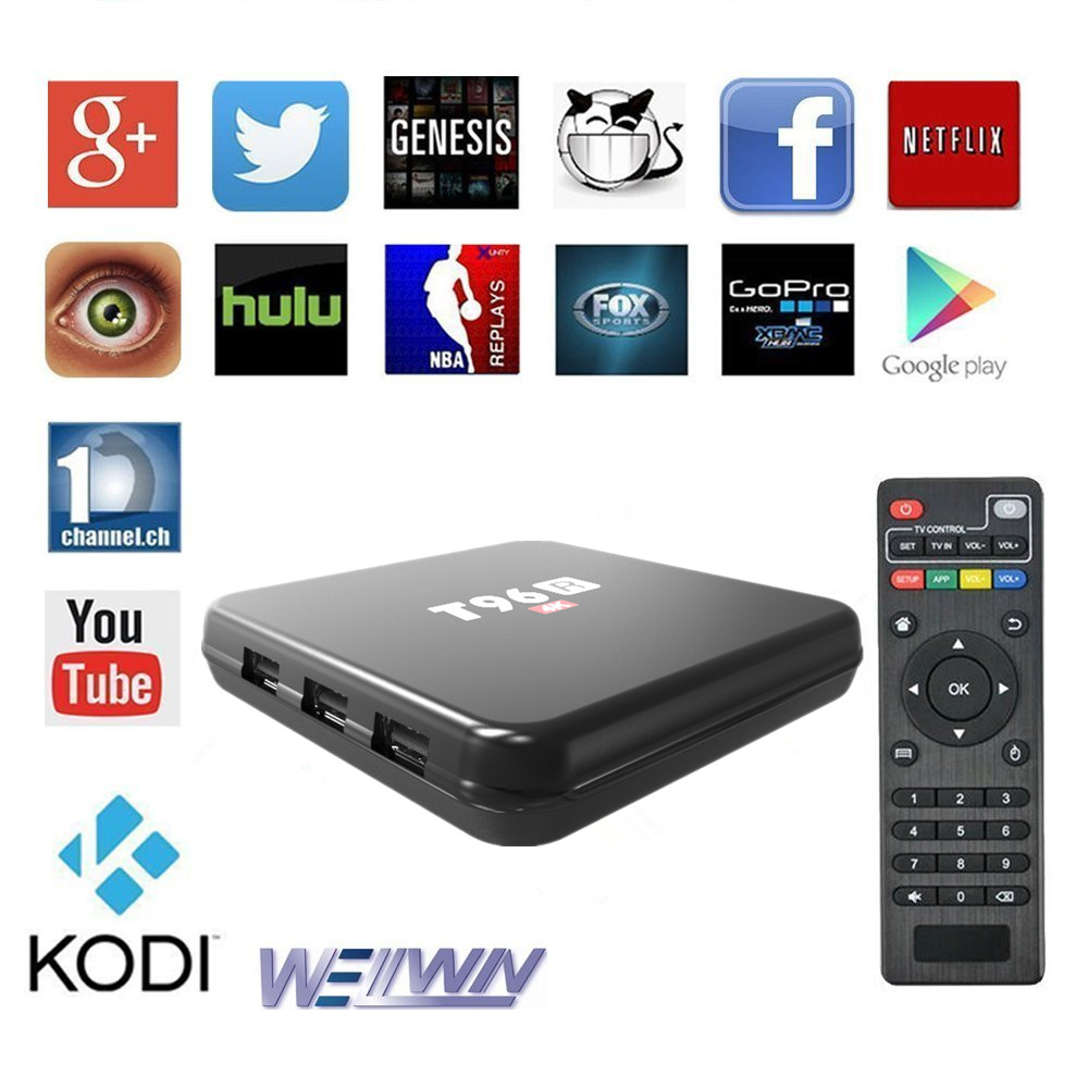 China Manufacture OEM 2G Android Internet TV Box With Card Slot T96R