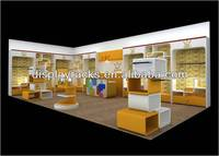 fashionable high quality children clothing garments interior design for retail store