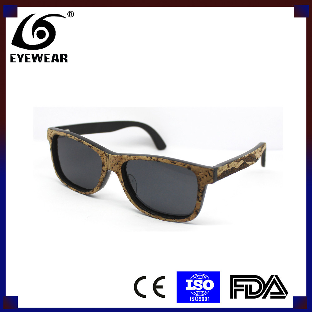 4344 Wood sunglasses 2016 high quality version fashion cork sunglasses