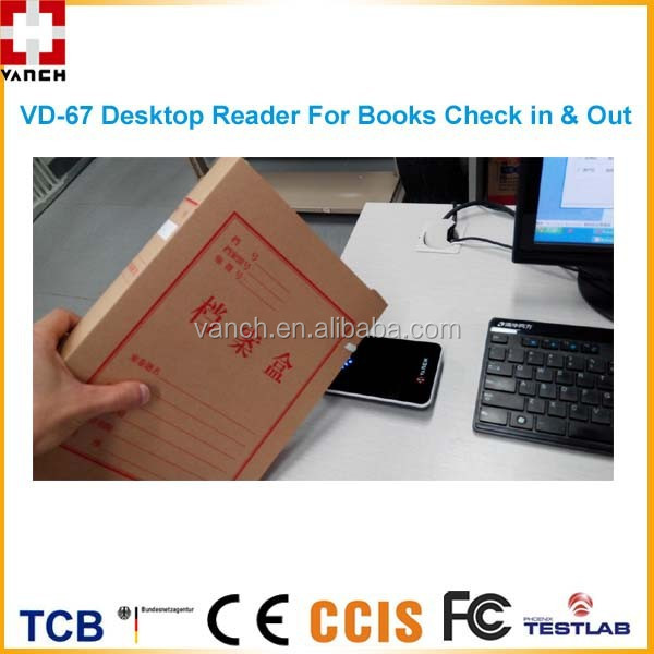 RFID Desktop Reader/Writer for Library Books Check in & Check Out