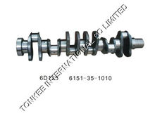 6151-35-1010 6D22 MITSUBISHI Crankshaft for hydraulic excavator engine parts