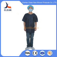 China supplier cheap Medical disposable medical surgical gown with elastic cuff