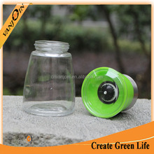 China Clear 150ml Glass Spice Bottle With Manual Grinder Cap