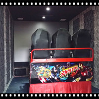 Pneumatic/hydraulic motion 5d cinema chairs 7d cinema 9d truck mobile