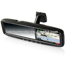 Car Rear View Mirror GPS touch screen , 4.3inch monitor rearview mirror for Focus Taurus Edge from 2007 to 2011