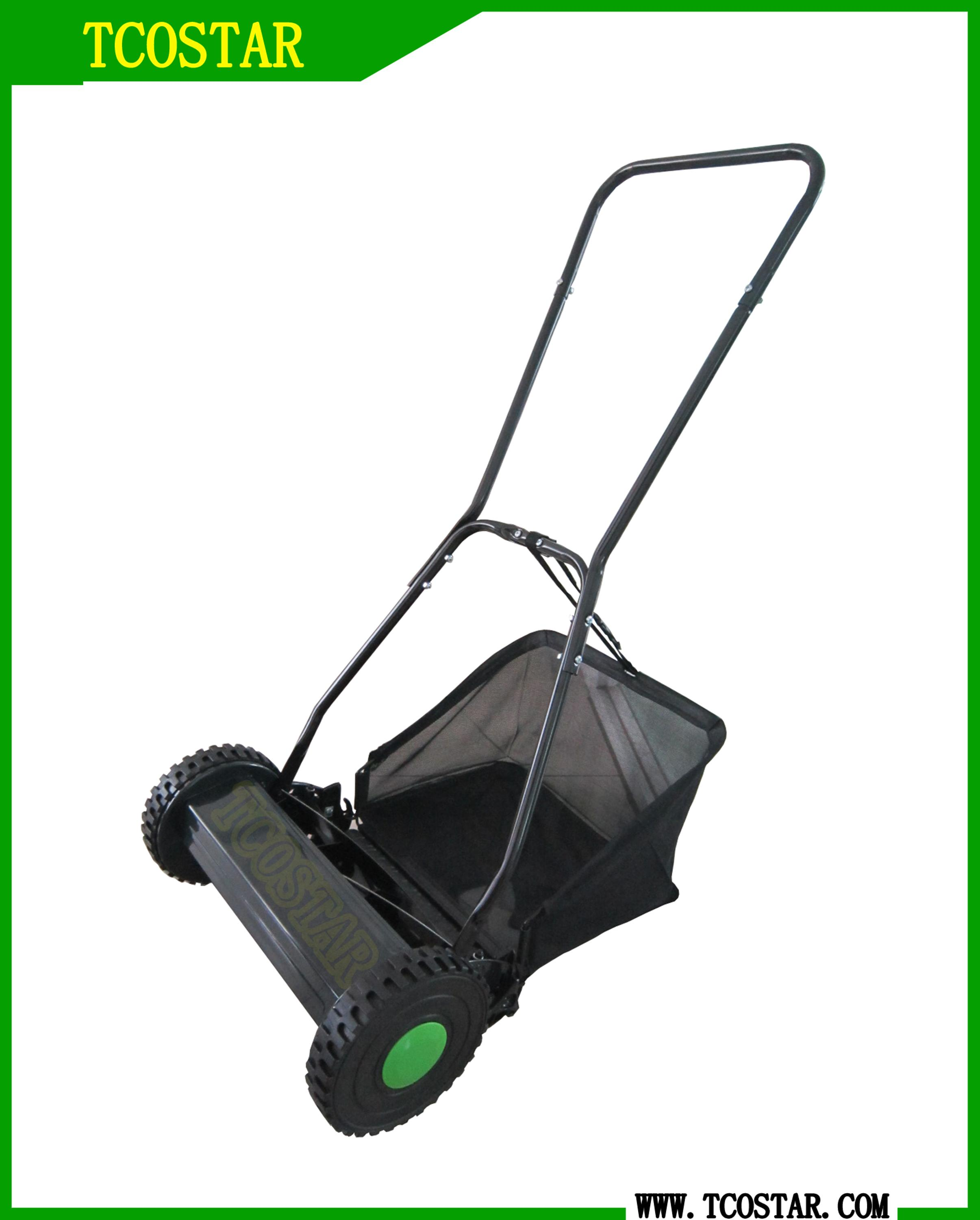 Grass cutting machine manual hand push lawn mower
