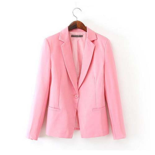 W13017 tailored collar new arrival slim autumn pink a button women suits