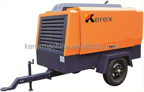 Drilling machine used 550cfm 16bar mining portable air compressor KG550-16