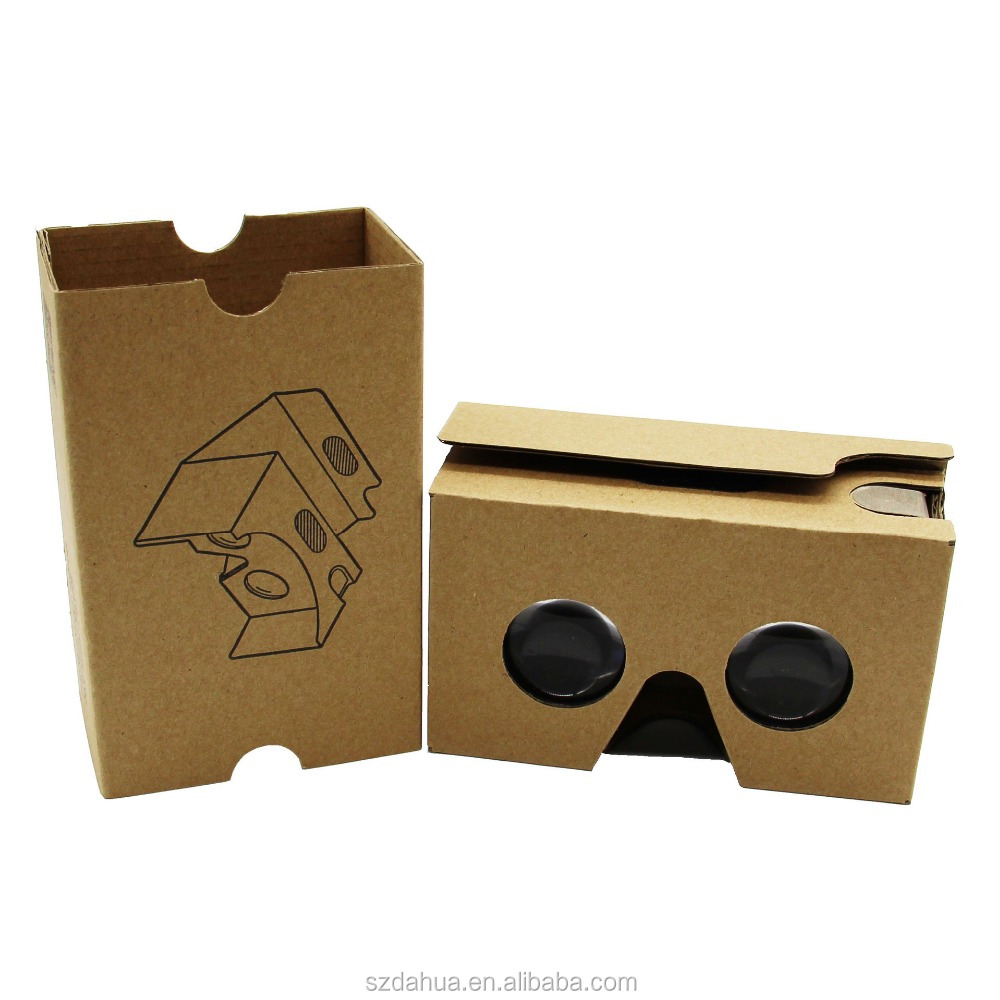 shenzhen dahua cardboard vr,DIY virtual reality cardboard googles VR 3d glasses