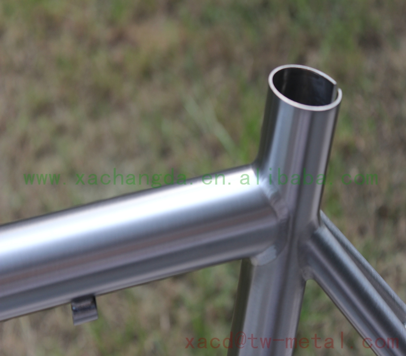 titanium road bicycle frame with integrated head tube 54CM road bike frame customized chinese titanium bike frame