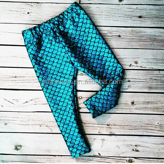 NEW Mermaid Scale Stretch shiny kids leggings soft and comfortable baby leggings