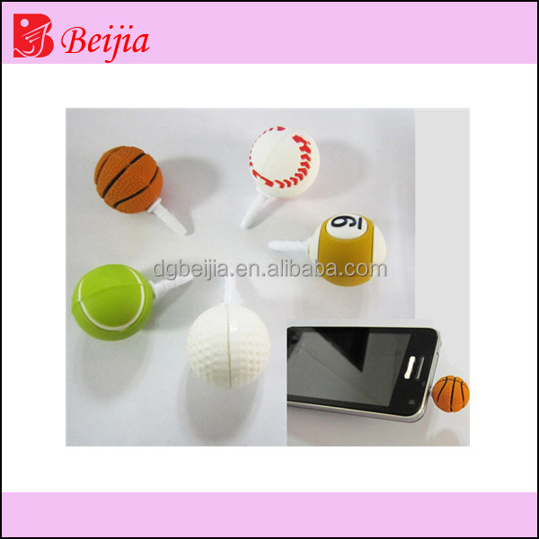 All kinds of sport silicone mobile phone ear cap/dust plug by alibaba express