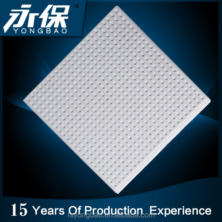Sound-absorbing plasterboards for ceiling tiles