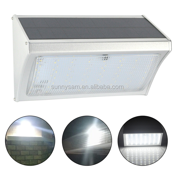 2017 New Solar Light Aluminium Housing Microwave Radar Motion Sensor Remote Control Luminaria Solar LED