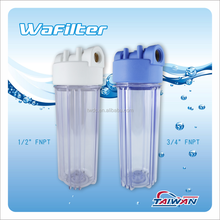 "Taiwan RO Water Filter Parts 10"" Plastic Water Filter Housing with Brass Port for Water Filtration"