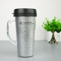 eco friendly double wall plastic tumbler with glitter paper insert
